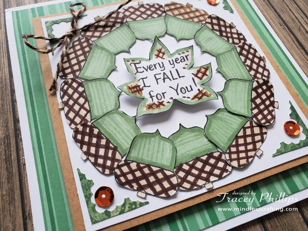 Acorn Wreath Card