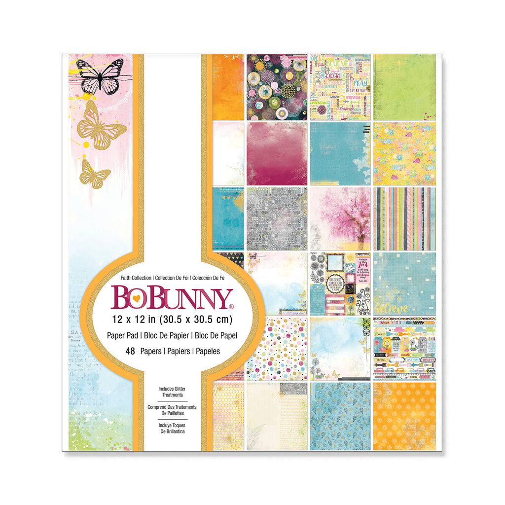 Bo Bunny FAITH COLLECTION 12x12 Paper Pad