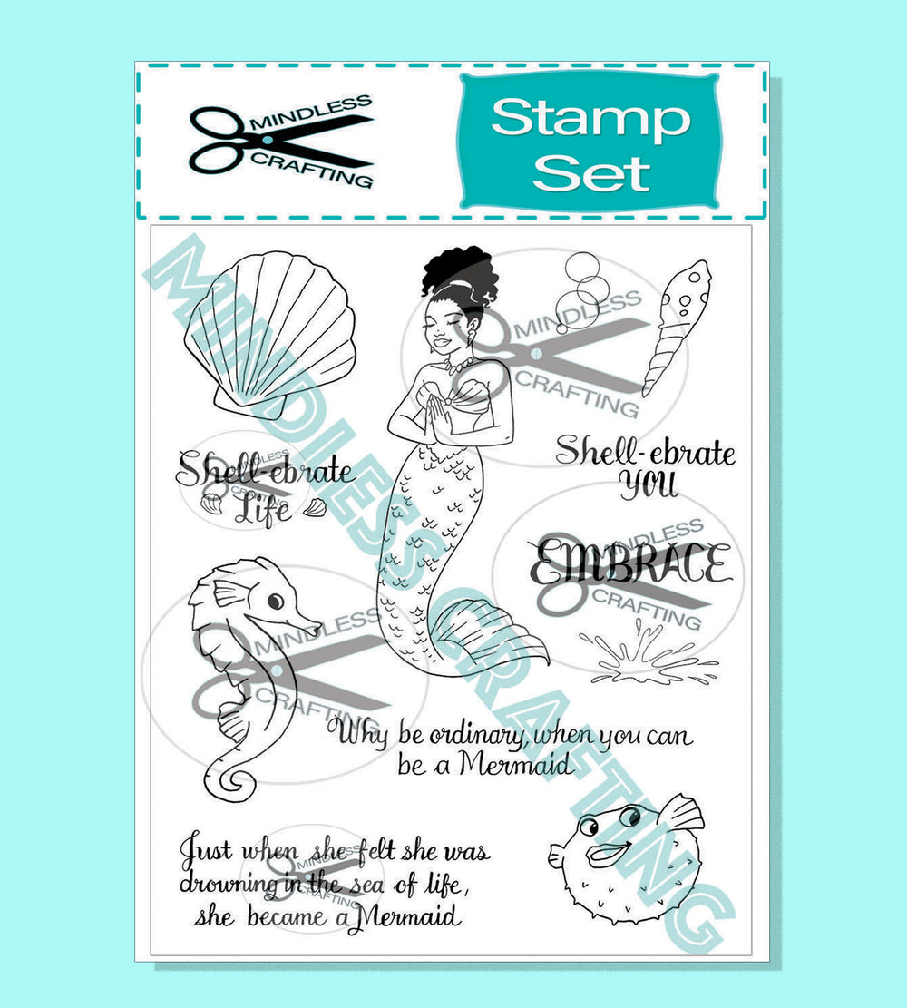 Be A Mermaid Photopolymer Stamp Set 6 x 8