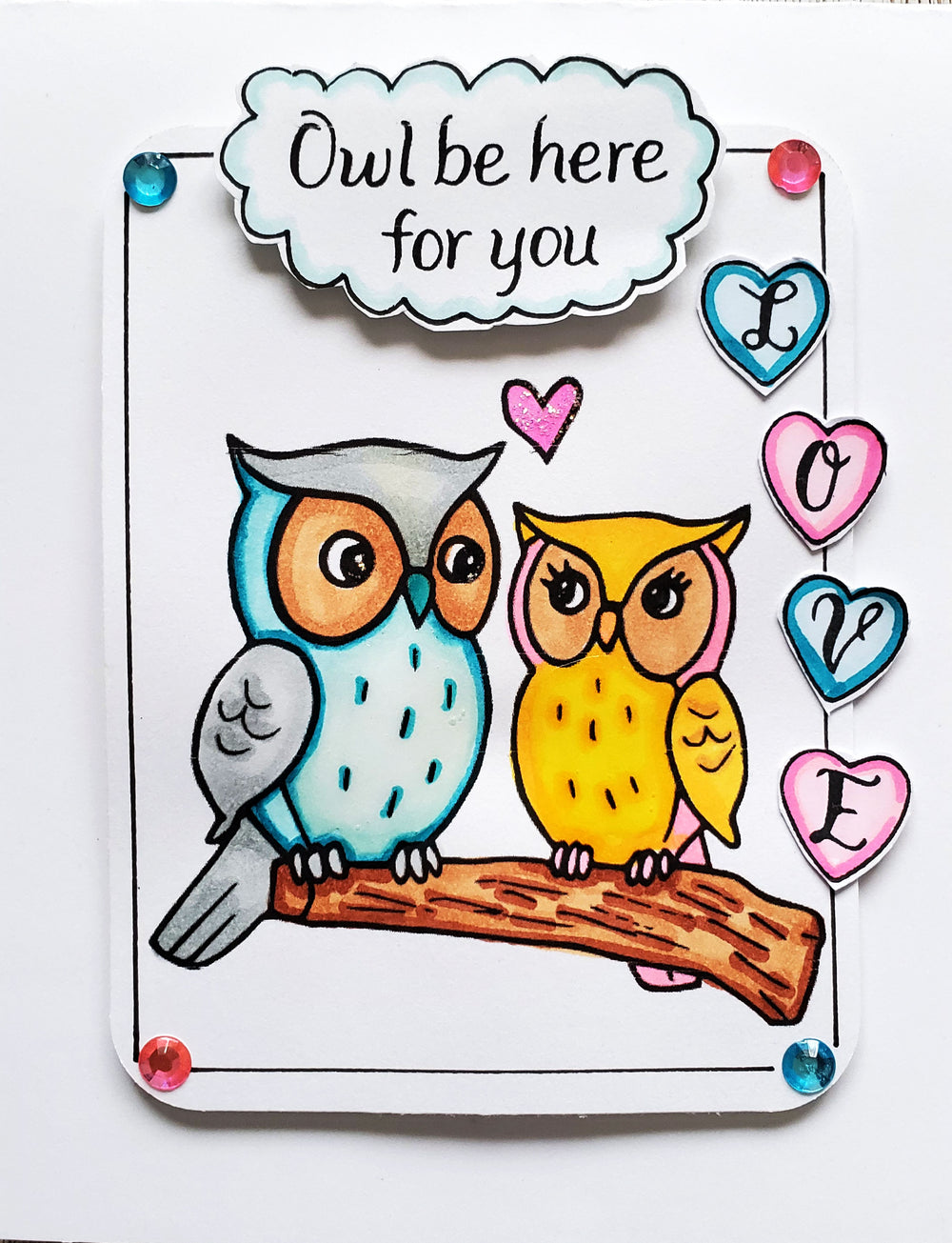 Owl Love Digital Stamp Set