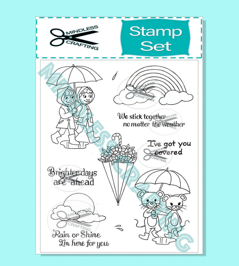 Brighter Days Photopolymer Stamp Set 6 x 8