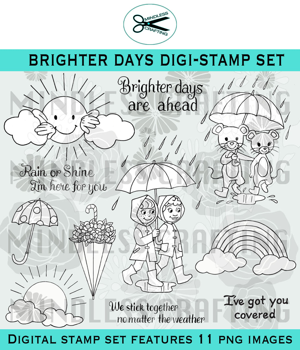 Brighter Days Digi Stamp Set