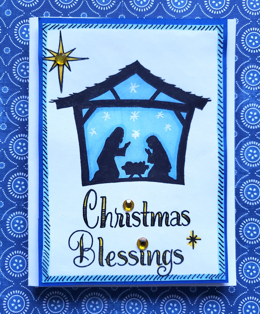 Christmas Blessings Photopolymer Stamp Set 6 x 8