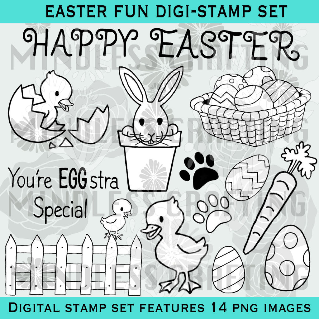 Easter Fun Digi Stamp Set
