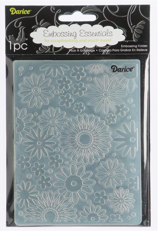 Embossing Folder Flower Frenzy Full 4.25 X 5.75 Inches