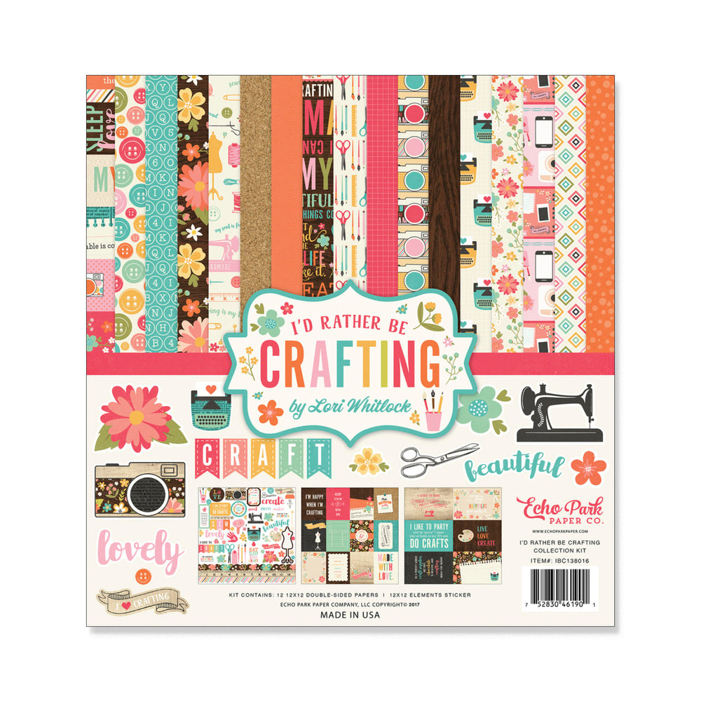 I'D RATHER BE CRAFTING 12x12 Collection Kit