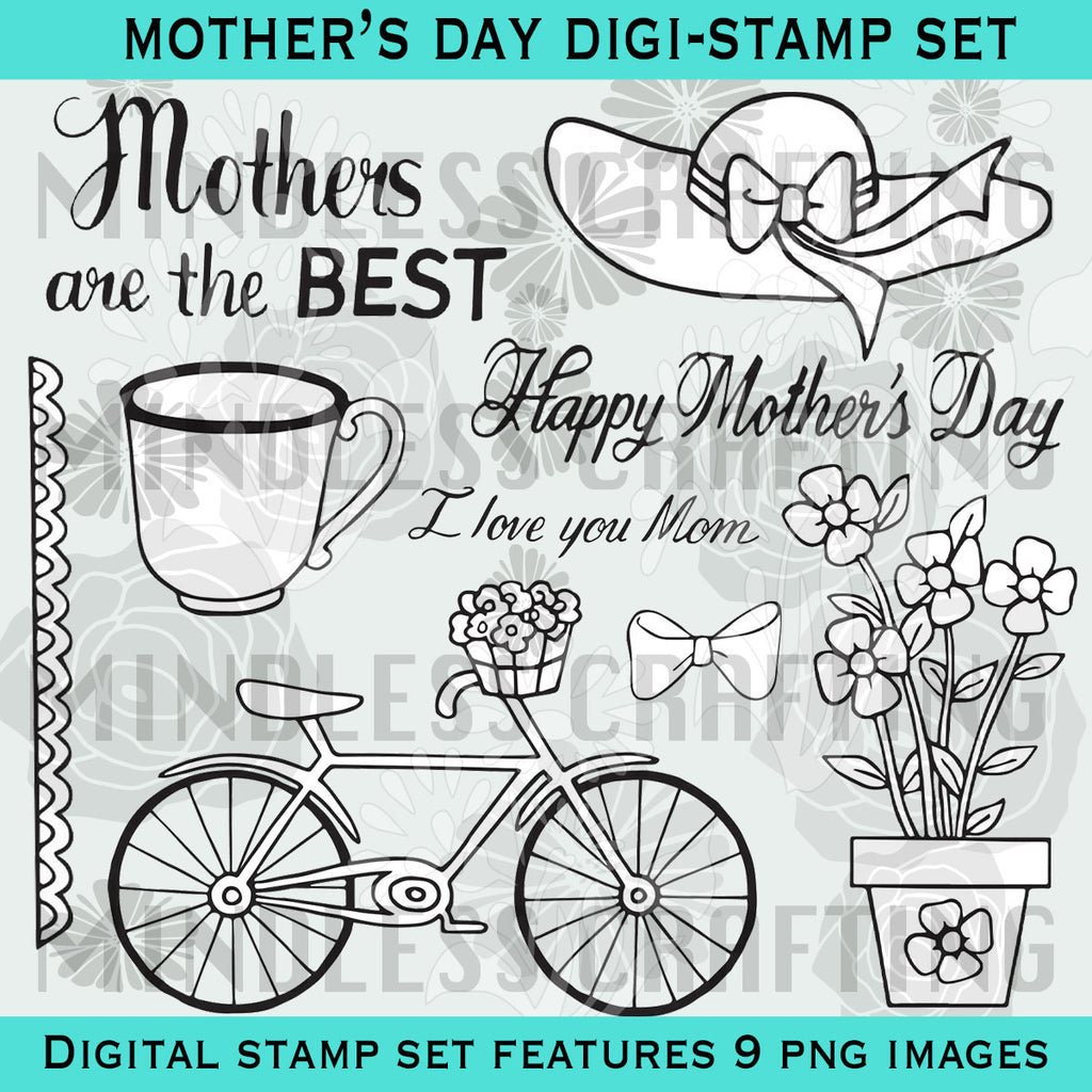 Happy Mother's Day Digital Stamp Set
