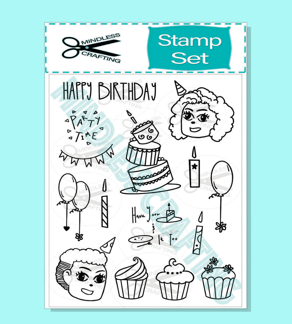Partytime Stamp Set 6 x 8 Photopolymer