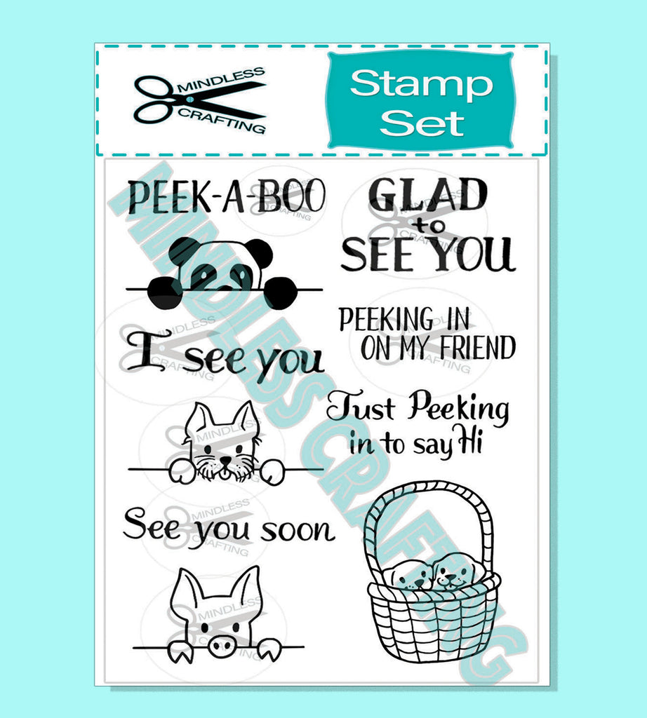 Peek-A-Boo Stamp Set 6 x 8 Photopolymer