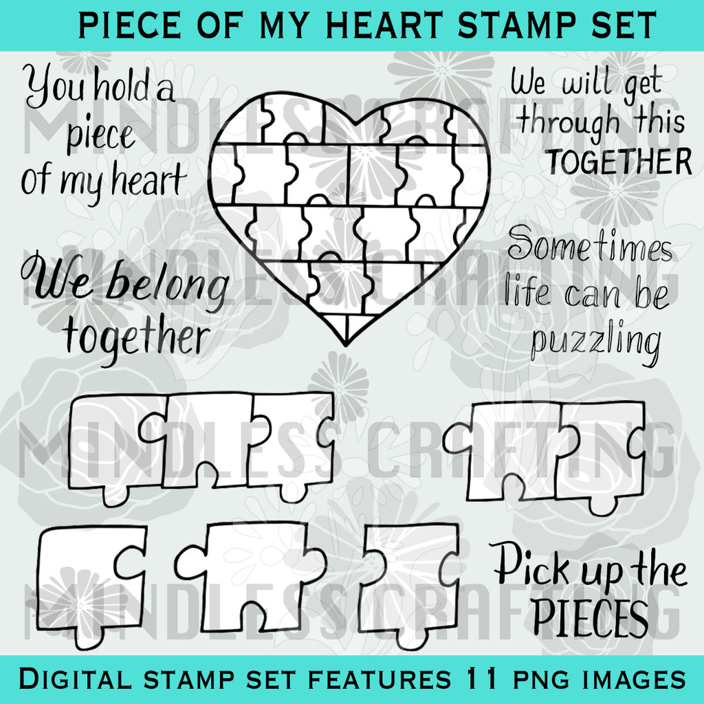 Piece of My Heart Digi Stamp Set