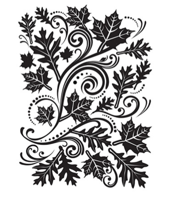 Embossing Folder - FALL LEAVES SWIRL