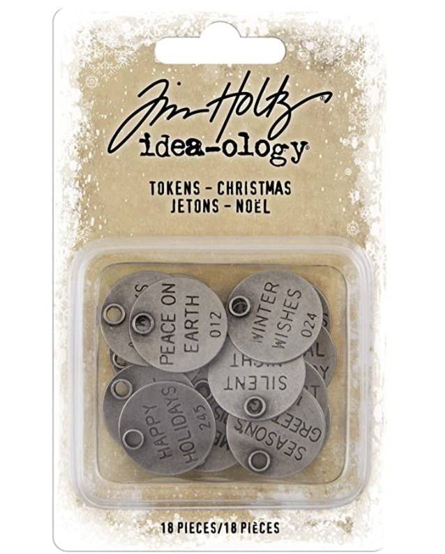 Tim Holtz Idea-ology - CHRISTMAS TOKENS