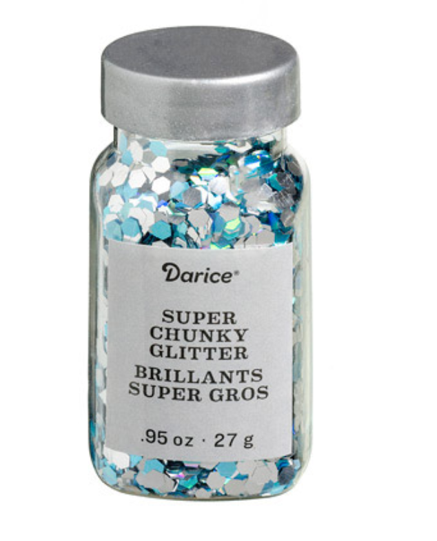 SUPER CHUNKY GLITTER - PEACOCK BLUE MIX