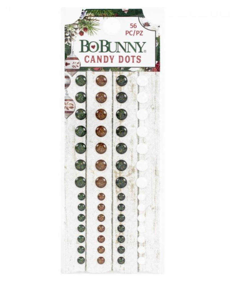 BoBunny Candy Enamel Dots - JOYFUL CHRISTMAS