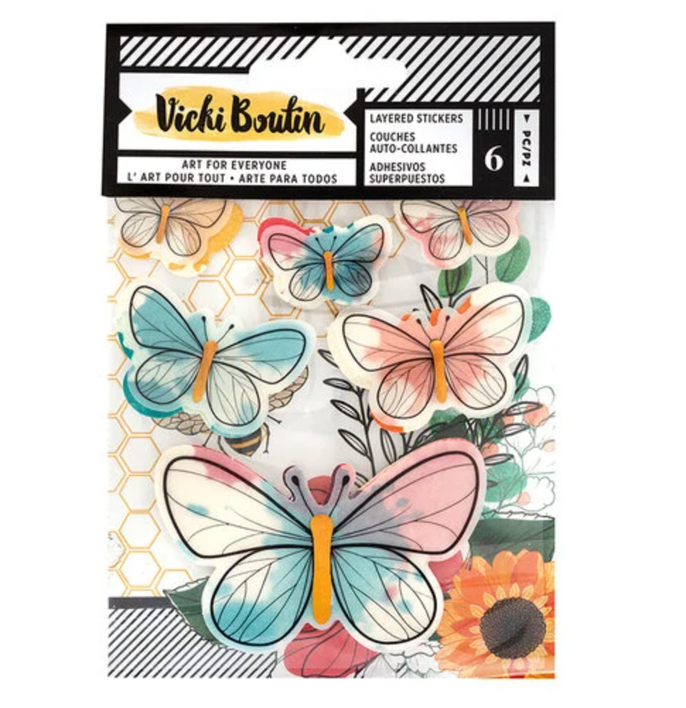 Vicki Boutin BUTTERFLY Stickers