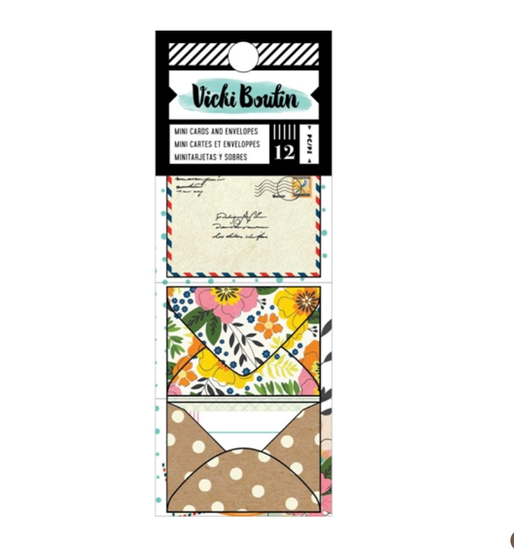 LET'S WANDER Mini Cards & Envelopes - 12 pcs