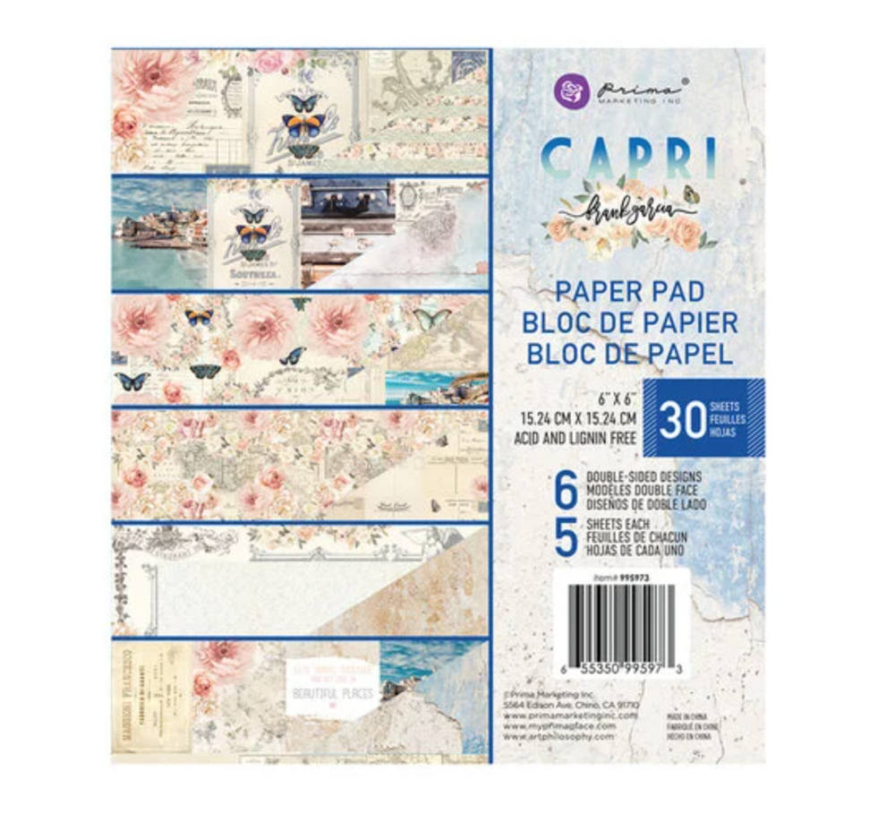 Prima 6x6 Paper  Pad CAPRI COLLECTION