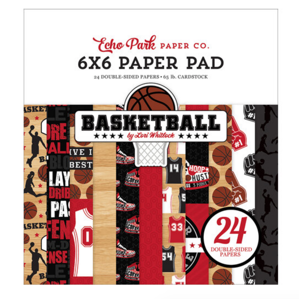 Echo Park 6x6 Paper Pad BASKETBALL