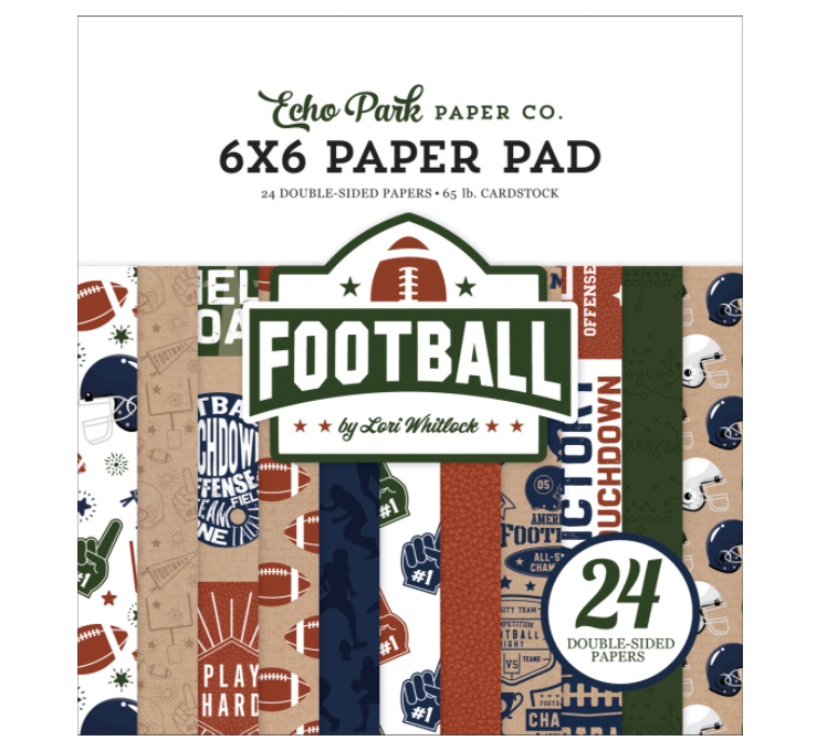 Echo Park 6x6 Paper Pad FOOTBALL