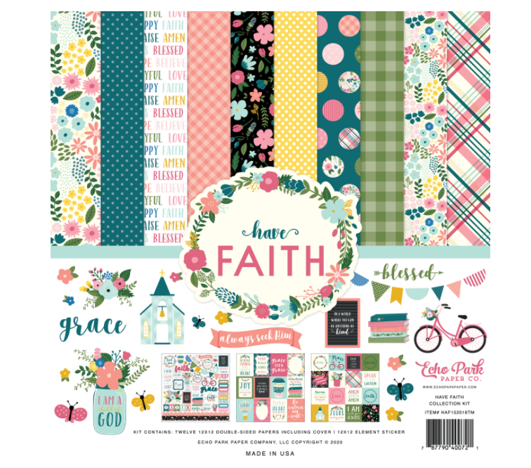 Echo Park HAVE FAITH COLLECTION KIT