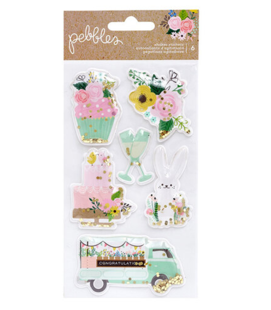 Lovely Moments Shaker Stickers - 6pcs