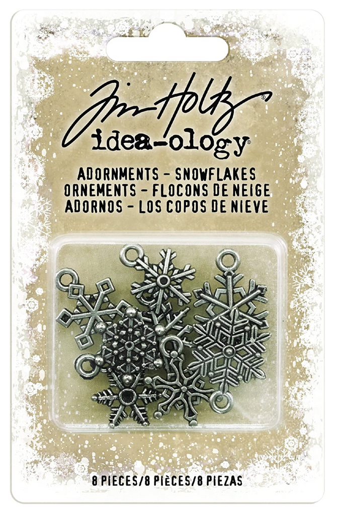 Tim Holtz Adornments - Snowflakes