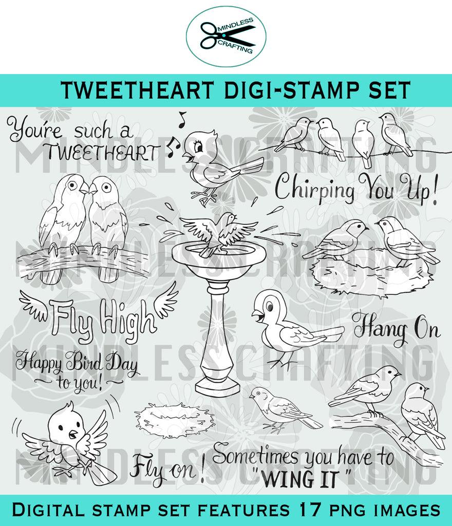 Tweetheart Digi Stamp Set