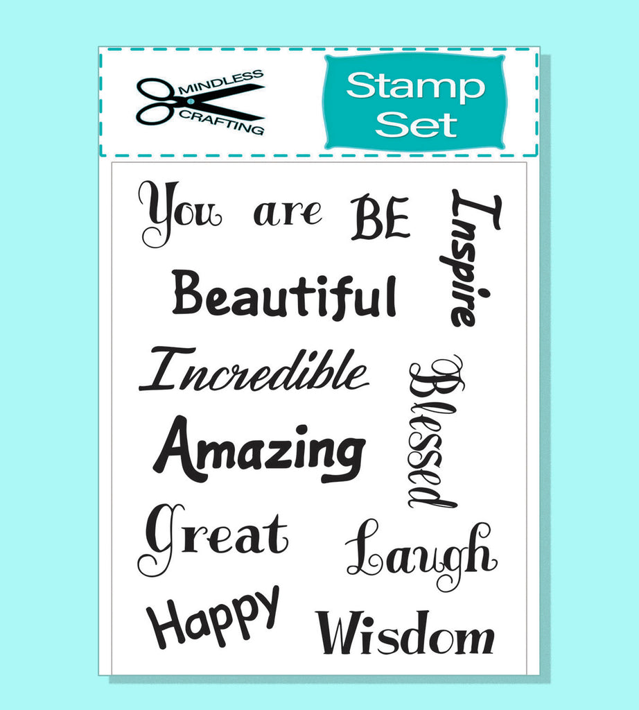 Words to Inspire 6 x 8 Stamp Set