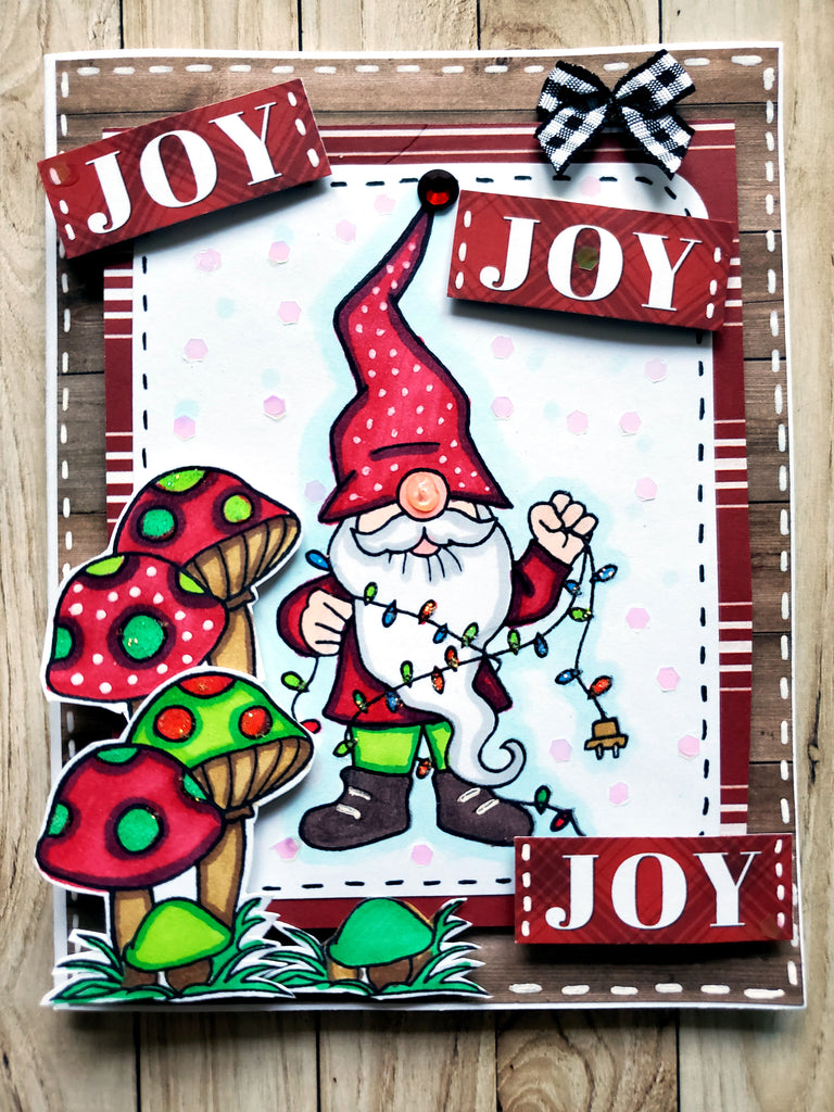 Holiday Gnomes Stamp Set 6 x 8