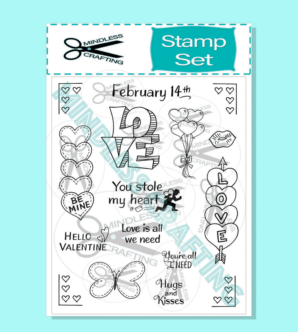 You Stole My Heart 6x8 Stamp Set