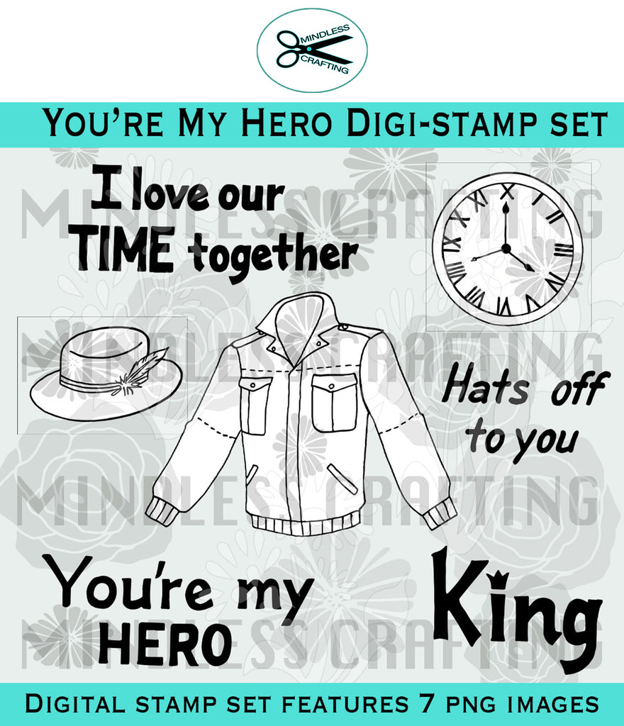 You're My Hero Digital Stamp Set