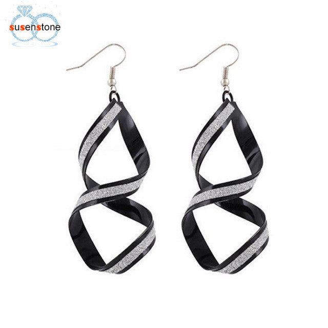 SUSENSTONE Women Alloy Matte Dangle Earrings