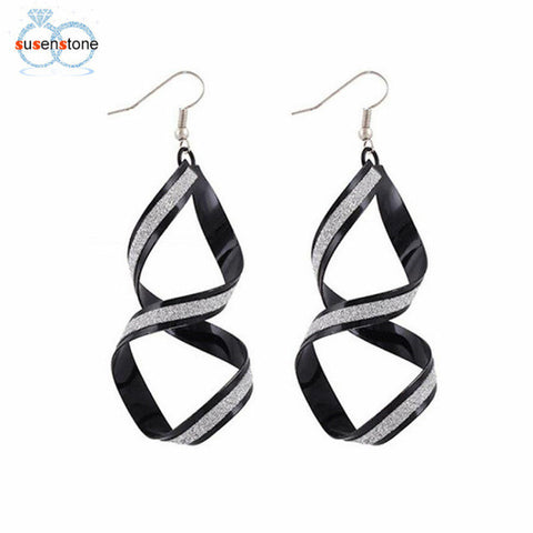 Image of SUSENSTONE Women Alloy Matte Dangle Earrings
