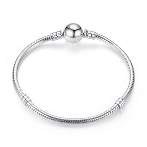 100% 925 Sterling Silver Original 7 Styles Chain Bracelet Bangle for Women