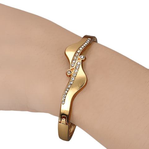 Jewelry Antisymmetric Crystal Bracelet Bangle