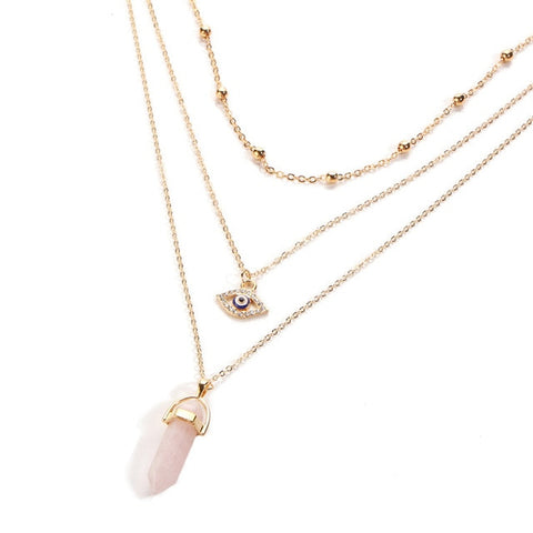 17KM Vintage Opal Stone Chokers Necklaces For Women