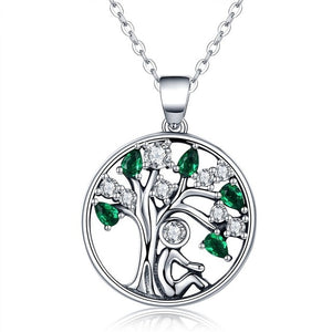 BAMOER 925 Sterling Silver Rely Tree of Life Pendant Necklace