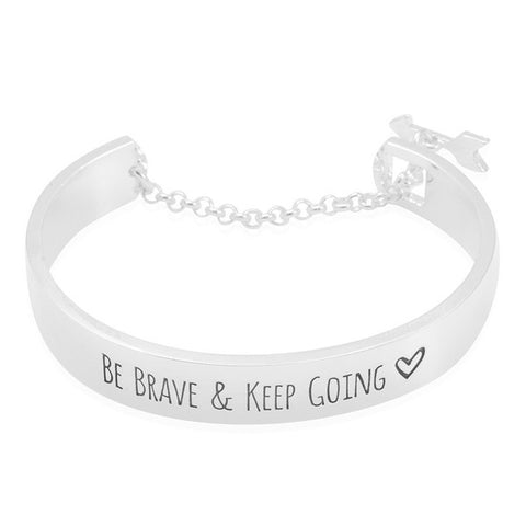 Image of Be Brave & Keep Going Engraved Bangle
