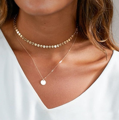 Image of Trendy Multi Layer Choker Necklace