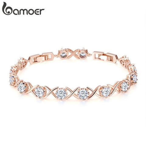 Image of Elegant Tennis Chain Link Women Bracelet