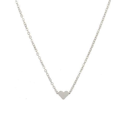 Image of Crystal Heart Necklace For Women