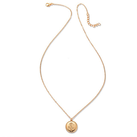 Image of 17KM Fashion Rose Flower Charm Pendant Necklaces For Women