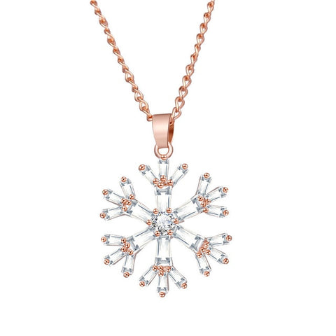 Image of 17KM 6 Design Rose Gold Color Cubic Zirconia Moon Pendant Necklaces For Women
