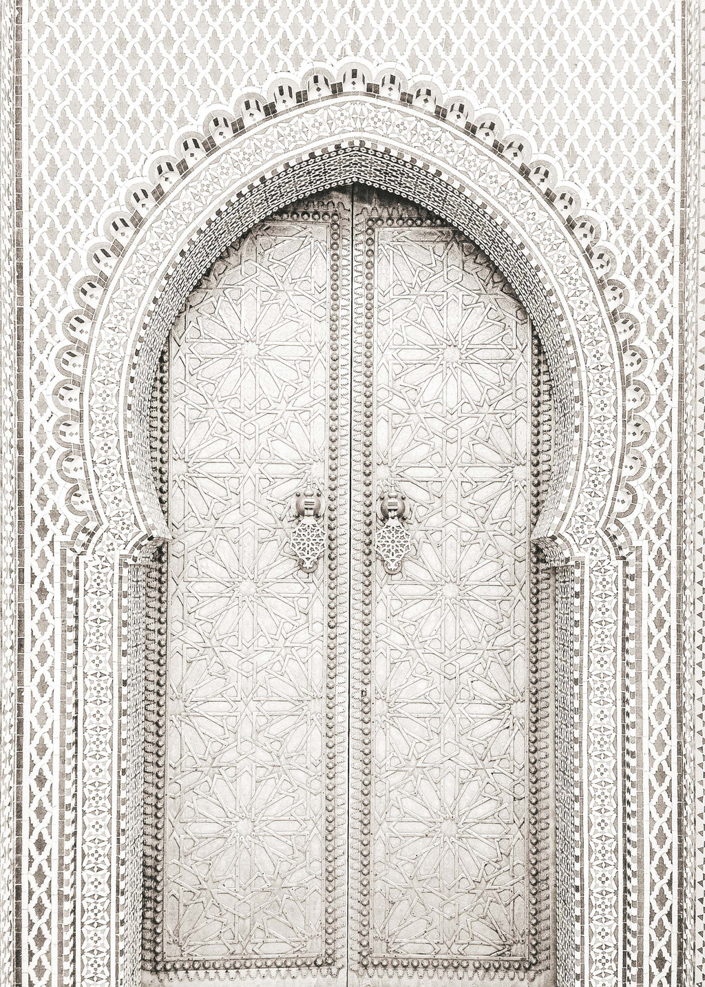 Moroccan Doors, Black + White