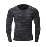 Mens Khaki Long Sleeve Compression Top