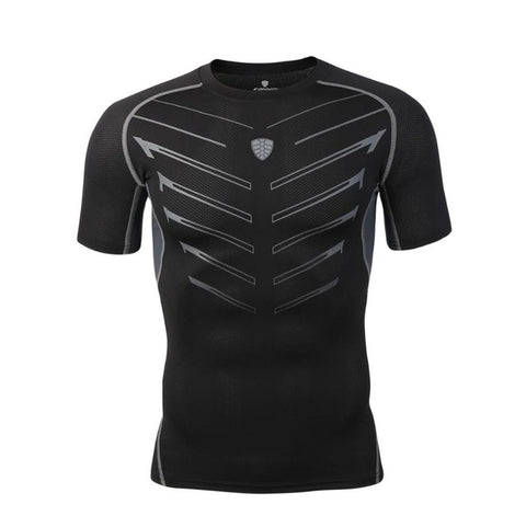 Mens Short Sleeve Compression Top