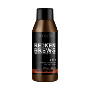Redken Brews 3-in-1 Shampoo, Conditioner, Body Wash
