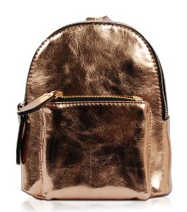 Vieta Rose Gold Small Backpack Style Hand Bag