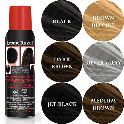 Jerome Russell Spray On Hair BLACK