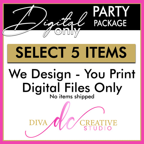 DIGITAL Only Party Package (5 Items)